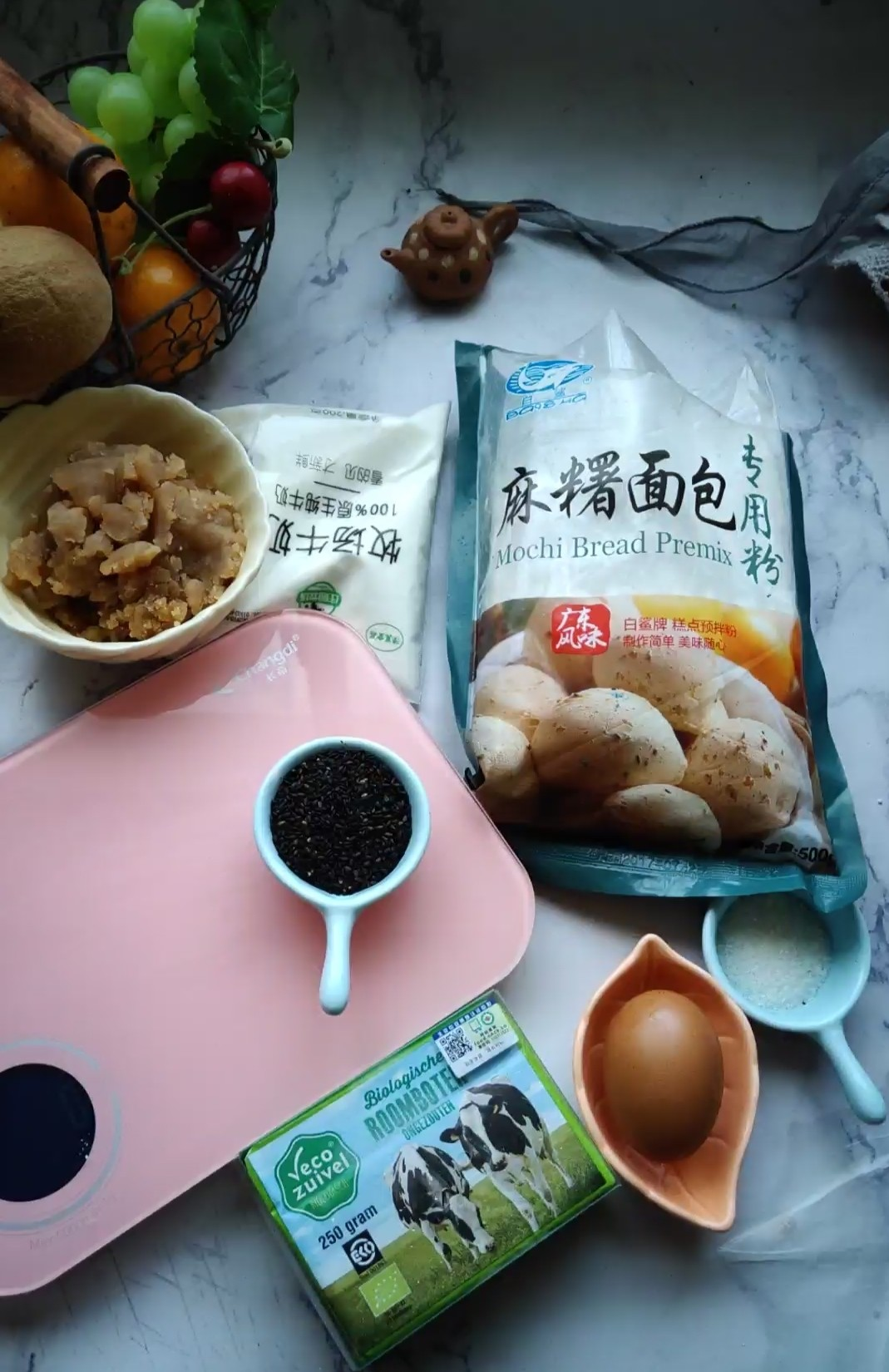 莲蓉麻薯包的家常做法