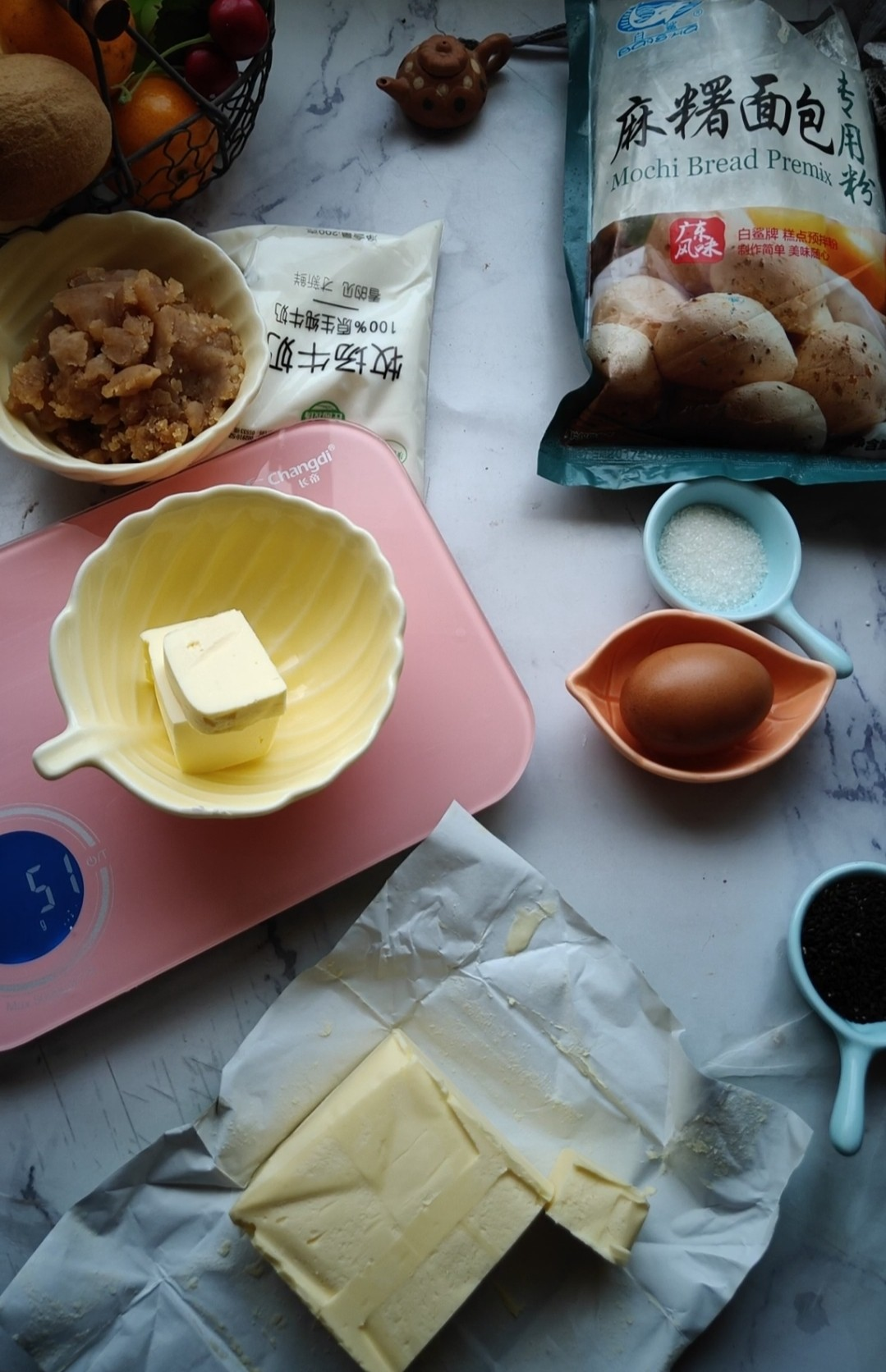 莲蓉麻薯包的简单做法