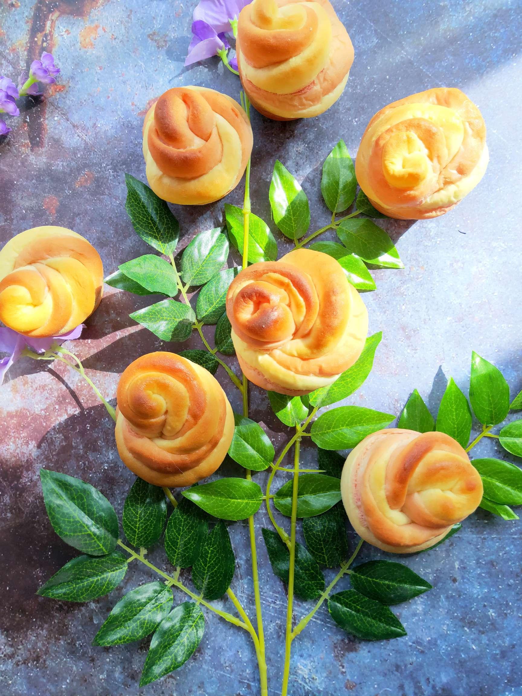 玫瑰花面包的做法大全