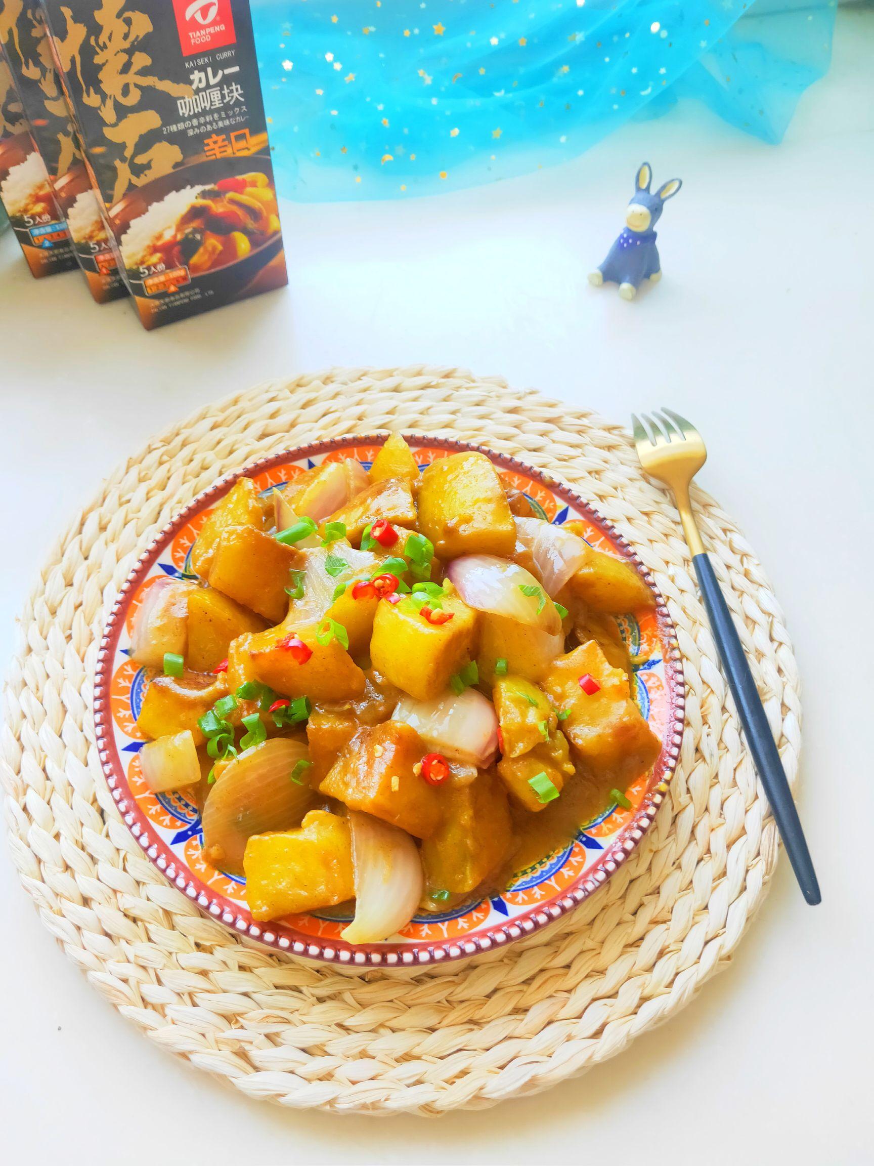 日式咖喱炖土豆成品图