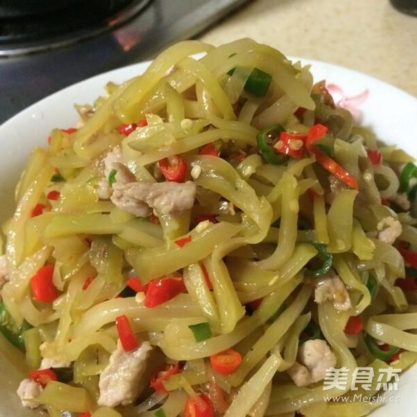 榨菜炒肉丝怎么煮