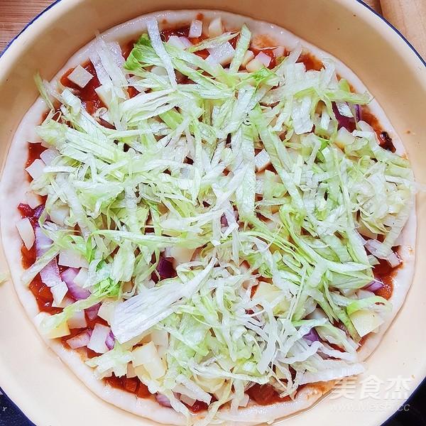 鸡肉土豆香菇Pizza的做法大全
