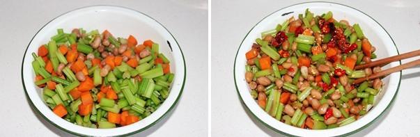 炝拌芹菜花生米怎么吃