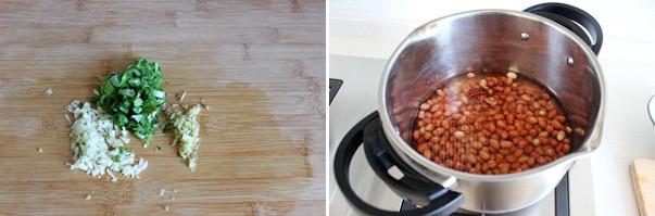 炝拌芹菜花生米的家常做法