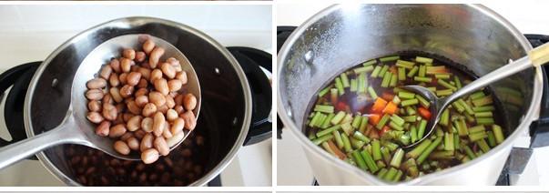 炝拌芹菜花生米的简单做法