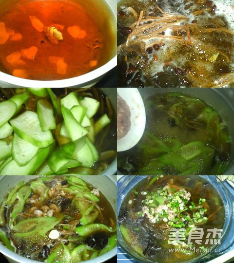 茶树菇丝瓜肉片汤的简单做法