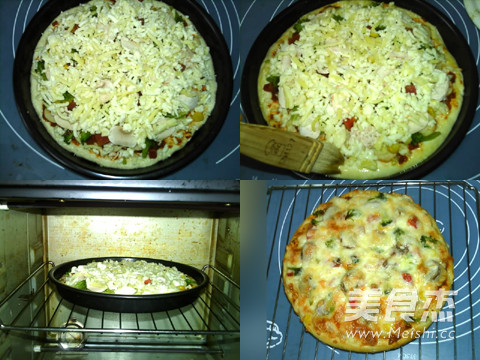 蘑菇鸡肉肠批萨的简单做法