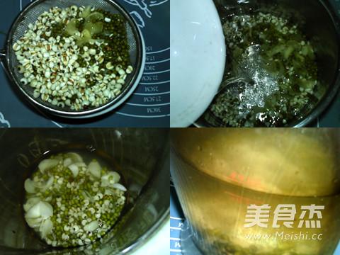 百合薏米绿豆浆的做法图解