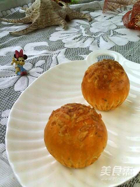 番茄百里香面包成品图