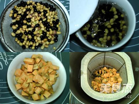 红薯黑黄豆浆的做法图解
