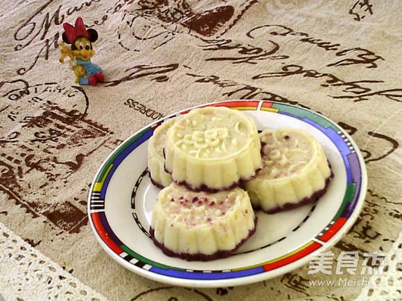蜂蜜紫薯山药糕成品图