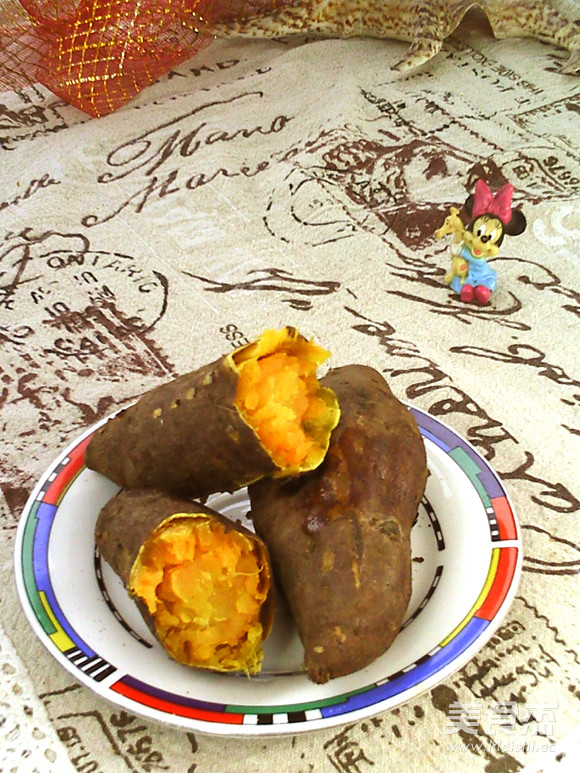 高压锅烤红薯成品图