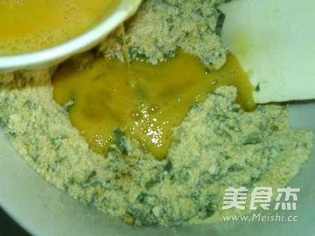 蒸蒲公英鸡蛋玉米饼怎么做