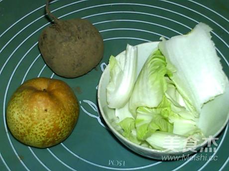 白菜甜菜根梨饮的做法大全