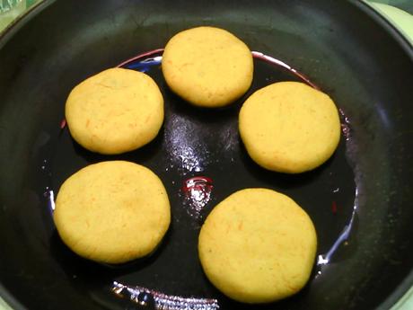 香糯紫薯南瓜饼怎样炒