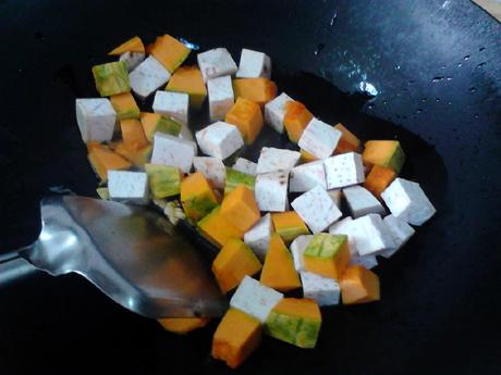 南瓜香芋煲怎么炒