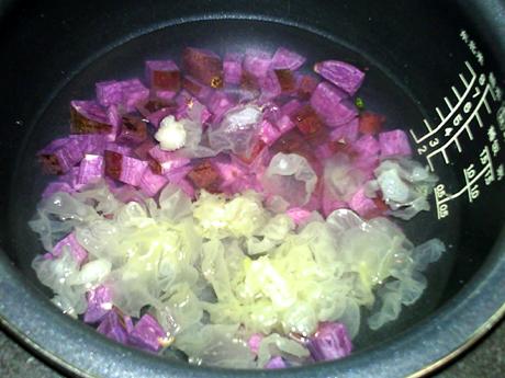 紫薯银耳汤的简单做法