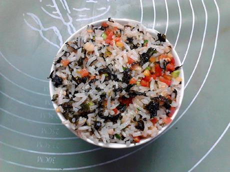 海苔胡萝卜炒饭怎样做