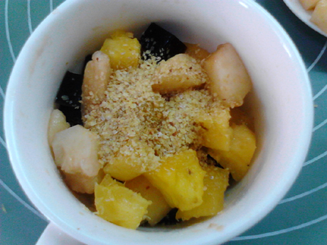 胚芽酸奶水果捞的简单做法