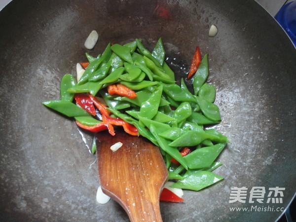 红椒炒芸豆怎么炒