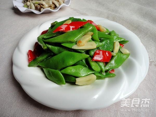 红椒炒芸豆成品图