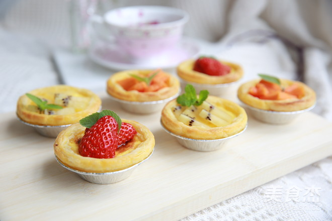七彩水果蛋挞怎样做