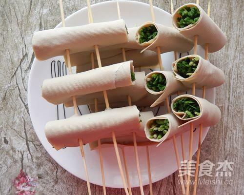 香烤豆皮卷韭菜怎么吃