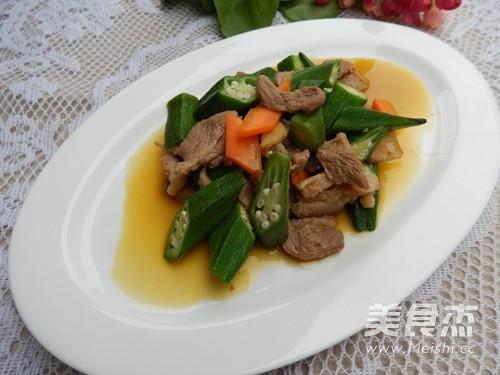 秋葵炒肉怎样煮