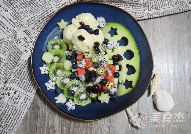 7点早餐|夏日必备,纯水果冰淇淋&沙拉的步骤