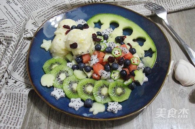 7点早餐|夏日必备,纯水果冰淇淋&沙拉成品图
