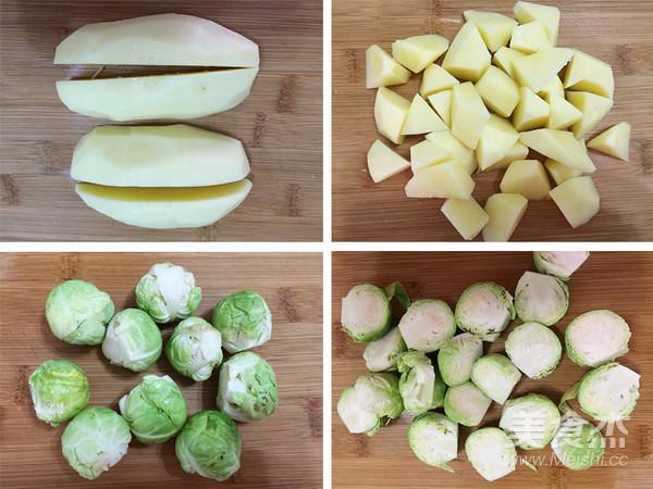 孢子甘蓝焗土豆的做法大全