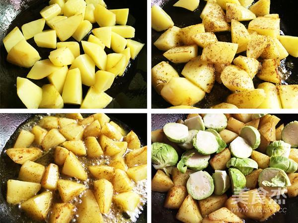 孢子甘蓝焗土豆的家常做法