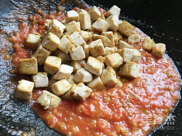 味噌茄汁老豆腐的步骤