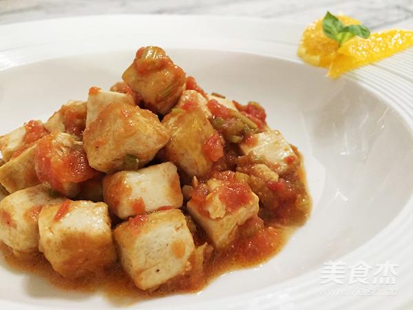 味噌茄汁老豆腐成品图