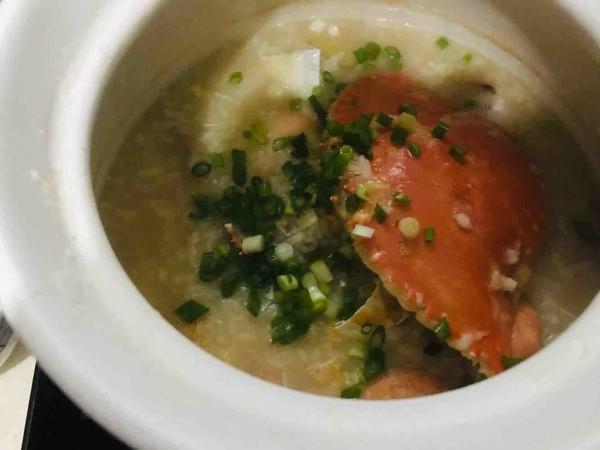 海鲜粥虾蟹粥怎么炒