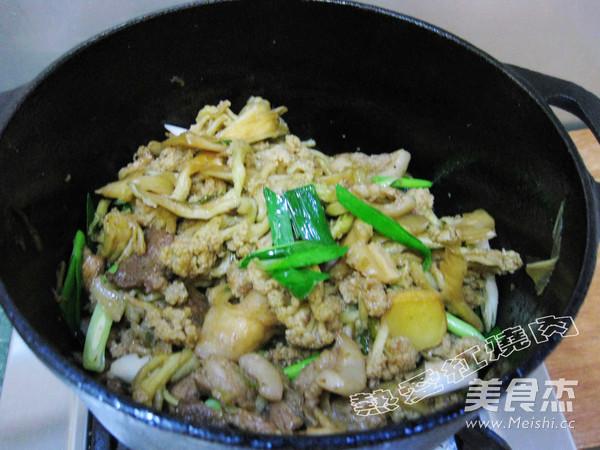 干锅干菜花的制作