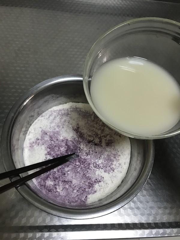 紫薯玫瑰花馒头的做法图解