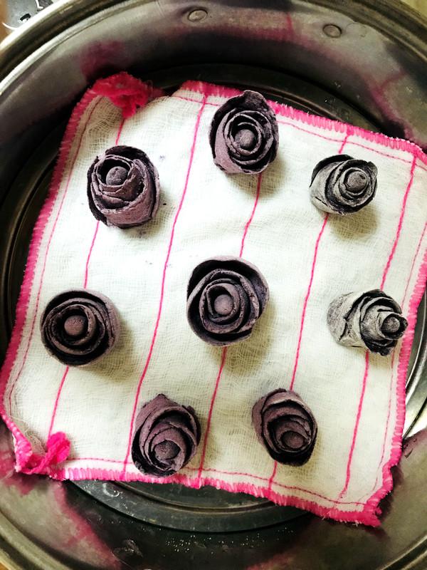 紫薯玫瑰花馒头怎么炖