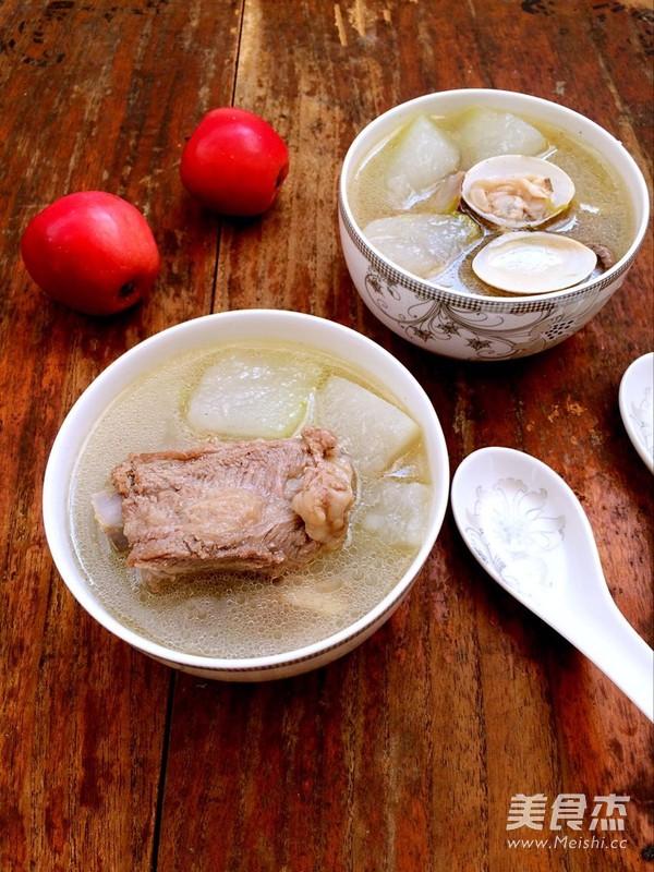 蛤蜊冬瓜排骨汤成品图