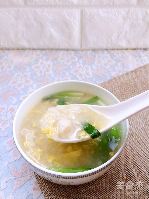 海鲜疙瘩汤成品图