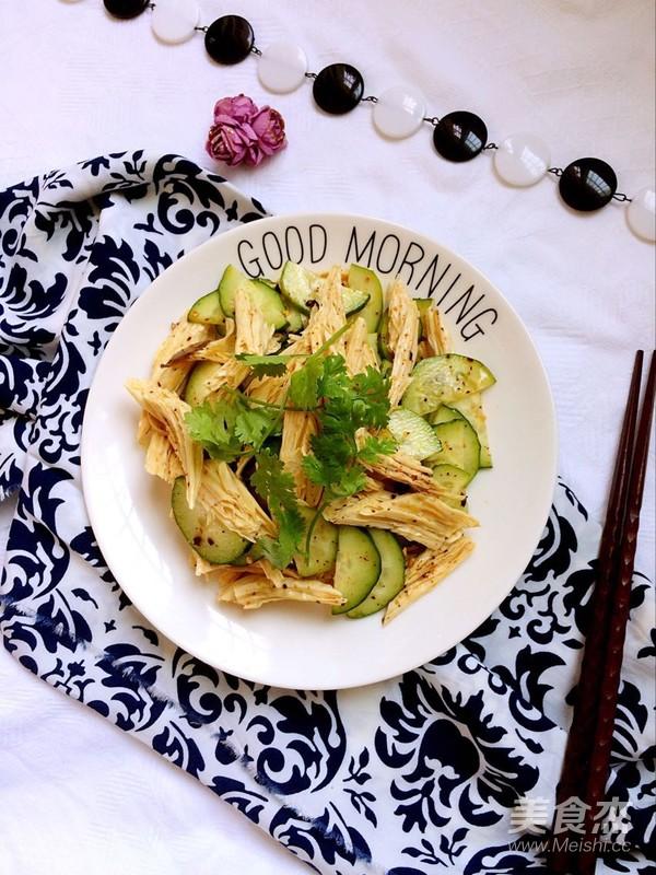 腐竹拌黄瓜怎样炒