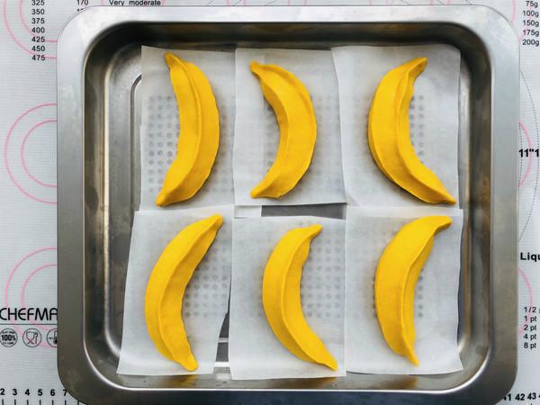 造型香蕉馒头怎样煸