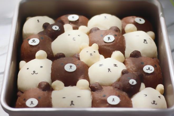 小熊挤挤面包的制作方法