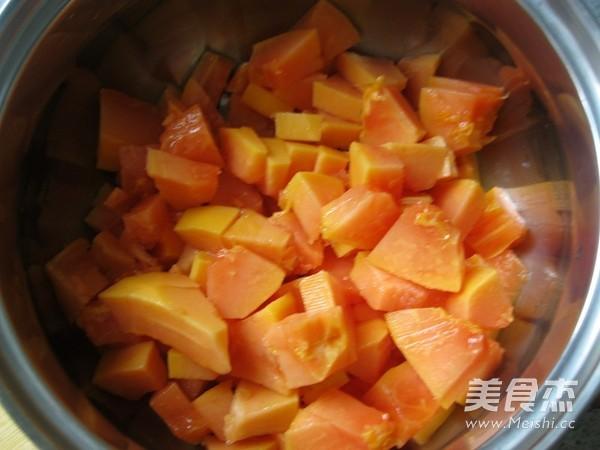 木瓜炖牛奶的做法图解