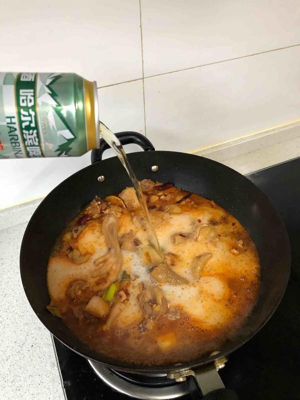 啤酒魔芋炖鸡怎么做