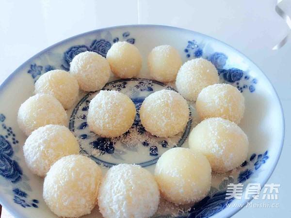 全蛋奶黄馅儿(冰皮月饼,糯米糍,奶黄包)成品图