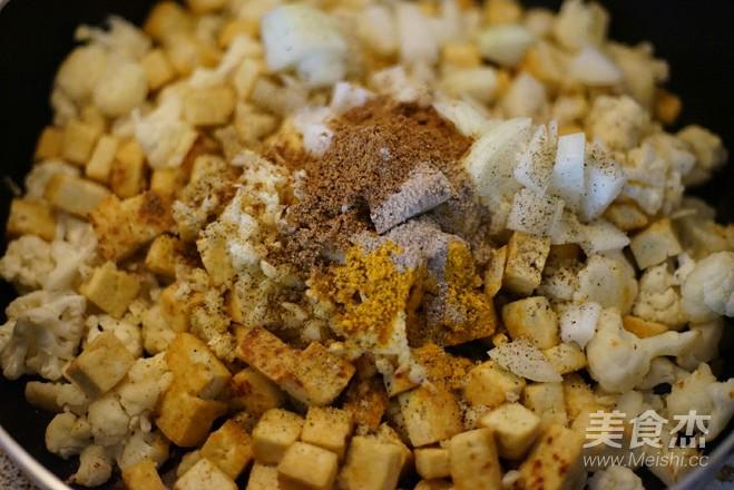 纯素豆腐菜花印度口味怎么炒