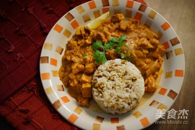 纯素豆腐菜花印度口味怎么炖