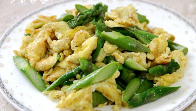 芦笋炒鸡蛋的简单做法