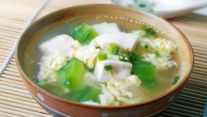 丝瓜豆腐蛋汤怎么做
